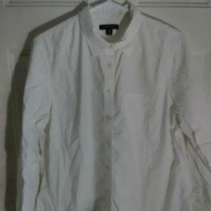 Women's button-down white shirt